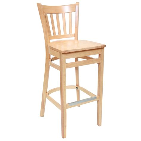 Wooden Bar Stool With Back Wood Bar Stools With Backs Decofurnish