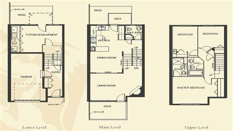4 bedroom apartment floor plans townhome building floor