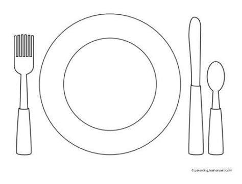 Favorite Foods Coloring Pages Coloring Challenges For Kids Pinterest Food Coloring Pages Place Setting Template