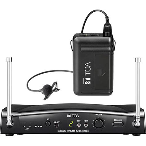 Mic Microphone Toa Ws 300 Clip On toa electronics wt5810ls wireless microphone system ws5300 b h