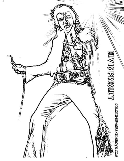 Elvis Coloring Pages free coloring pages of elvis