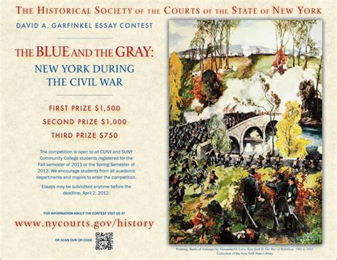 History Essay Contests 2012 by Historical Society Of The New York Courts The Academic Center David A Garfinkel Essay Contest