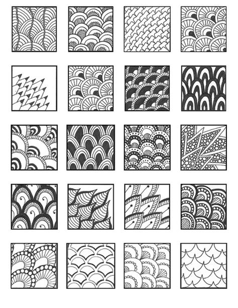 zentangle pattern chard scale01 zentangles patterns and doodles