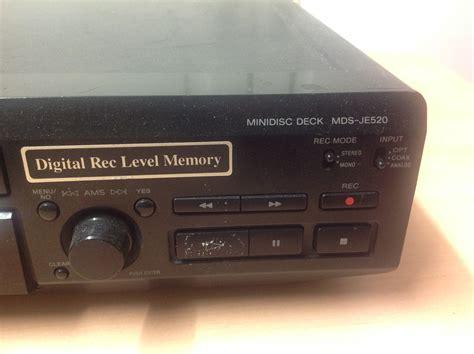 format audio minidisc sony mds je520 image 836781 audiofanzine