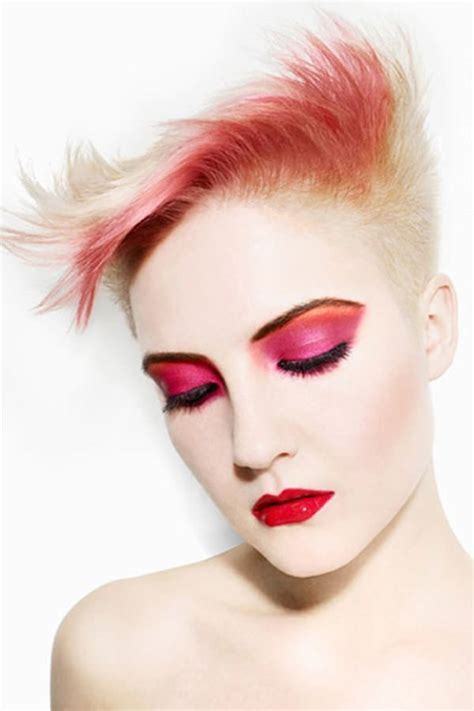 short hair in the pink with rocks bad girl 50 shaved hairstyles that will make you look like a badass