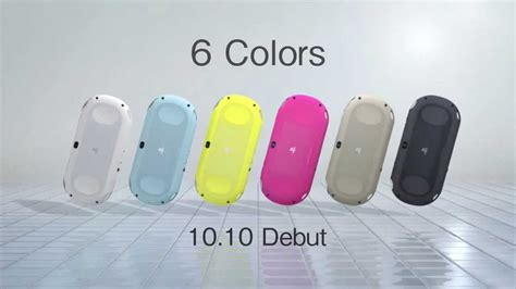 ps vita slim colors new ps vita quot lite slim 6 different colors quot tv spot japan