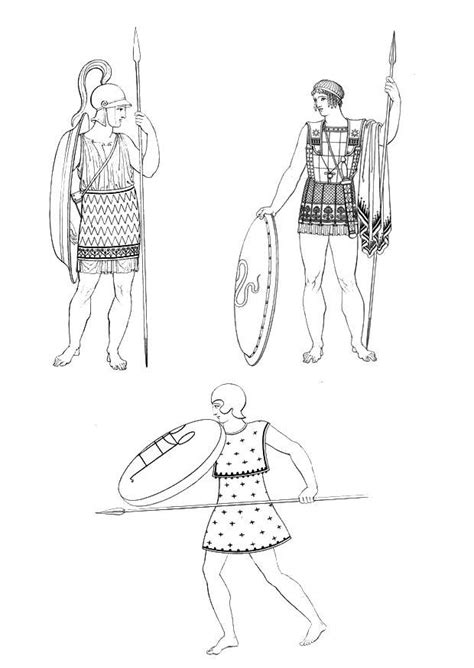 Coloring Page Soldier of ancient Greece - free printable