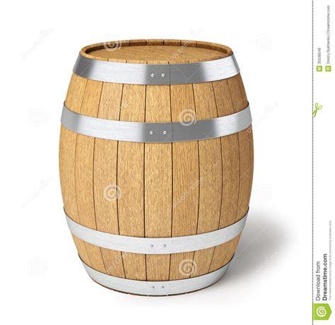 beer barrel wooden barrel isolated on white stock illustration