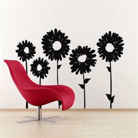 sunflower wall stickers sunflower wall decals 28 images sunflower wall decal sticker sunflower and bees wall