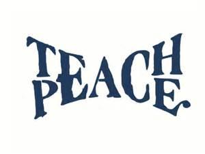 Duvet Covers 100 Cotton Quot Teach Peace Quot Art Prints By Masterperson40 Redbubble