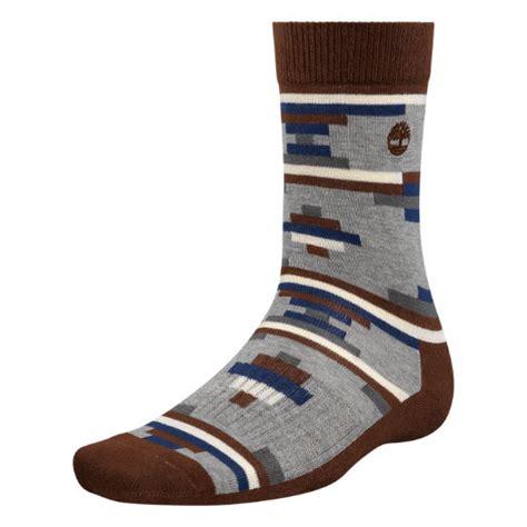 geometric pattern socks men s geometric pattern crew socks timberland us store