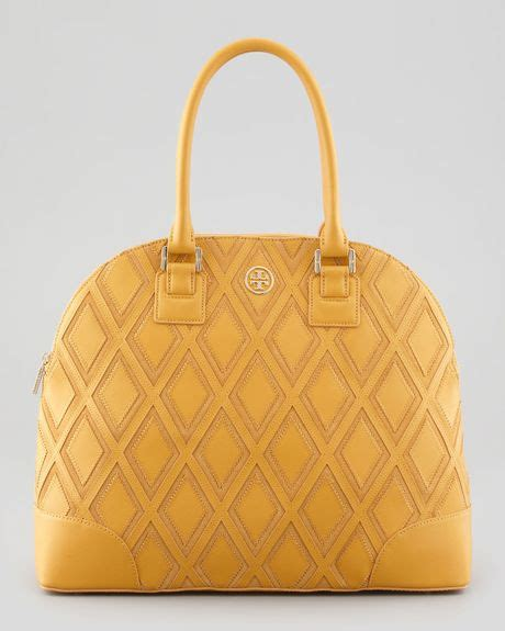 Burch Robinson Patchwork - burch robinson patchwork dome tote bag yellow in