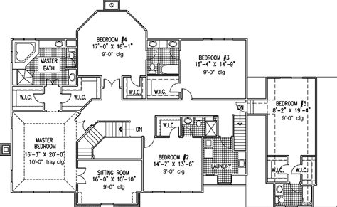 Six Bedroom House Plans by 6 Bedroom Single Family House Plans Print This Floor