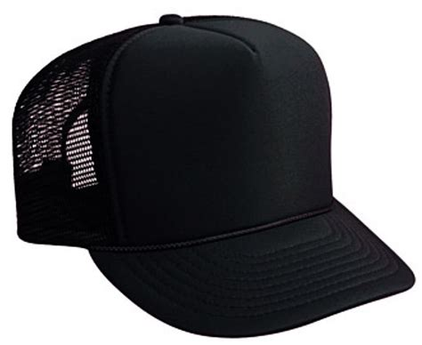 1 truck cap black trucker hat brand new black mesh black foam mesh