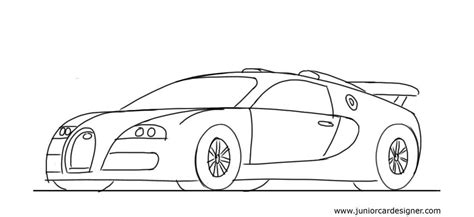 bugatti car drawing how to draw a sports car bugatti veyron junior car designer