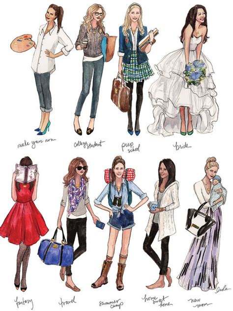 fashion illustration school fashion dress summer style design college boots