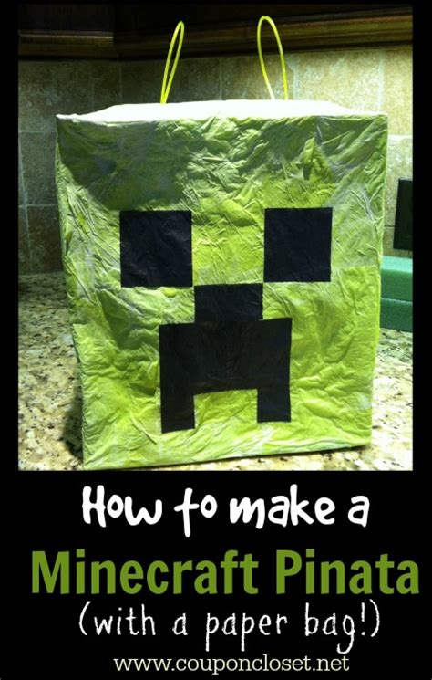How To Make A Paper Bag Pinata - how to make a minecraft pinata one