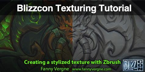 zbrush texturing tutorial pdf blizzcon texturing tutorial by fanny vergne zbrushtuts