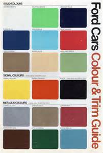 ford cars colour chart 1979 from july august 1979
