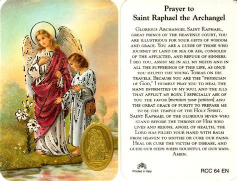 prayer to st prayer to st raphael the archangel archangels