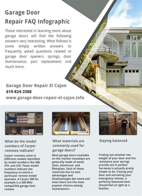 Garage Door Repair El Cajon Infographic Garage Door Repair El Cajon