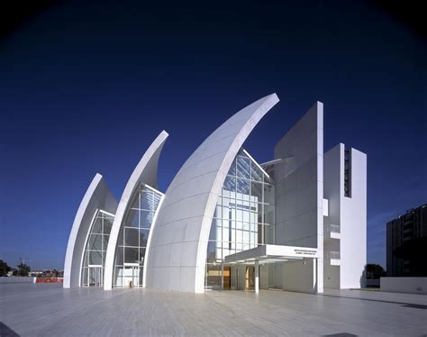 iconic modern architecture jubilee church in rome by