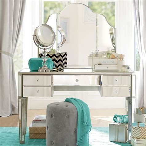 girls vanities for bedroom zoe desk vanity hutch pbteen