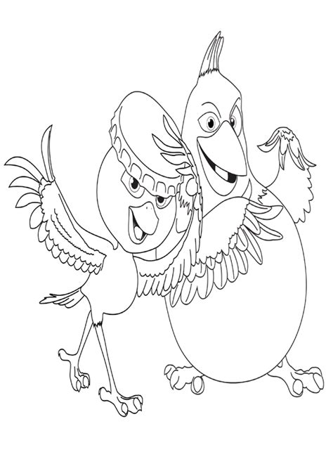 rio coloring coloring pages
