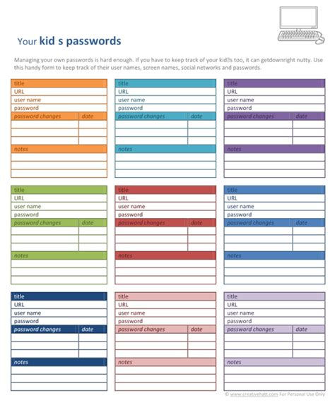password log template 6 best images of password book printable free printable