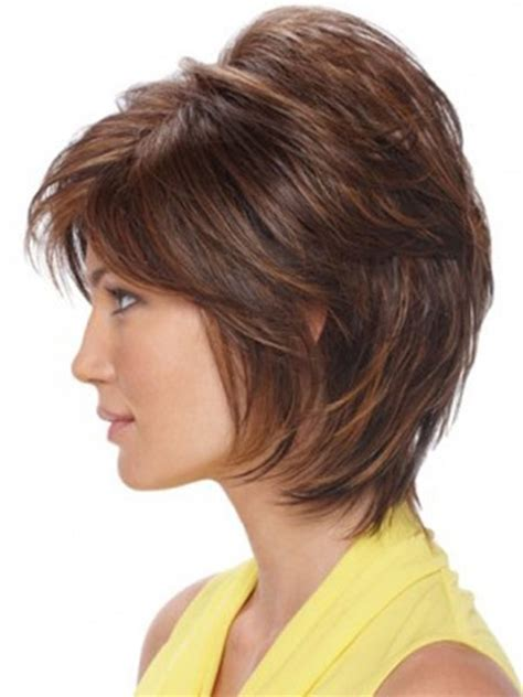 above shoulder shag layered bob with bangs shaggy bob with bangs short hairstyle 2013