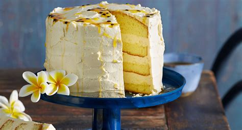 layered passionfruit sponge recipe  homes  gardens