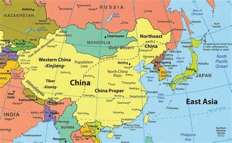 maps russia china map of east asia the countries are china russia japan