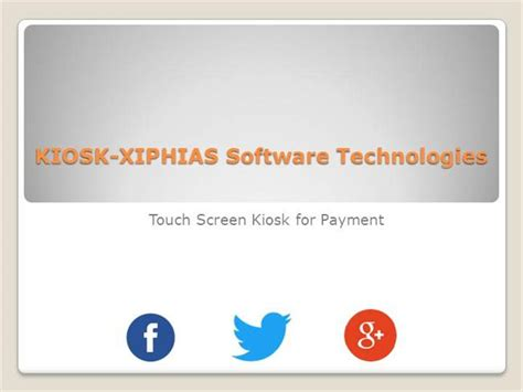 powerpoint templates for kiosk touch sceen kiosk for payment authorstream