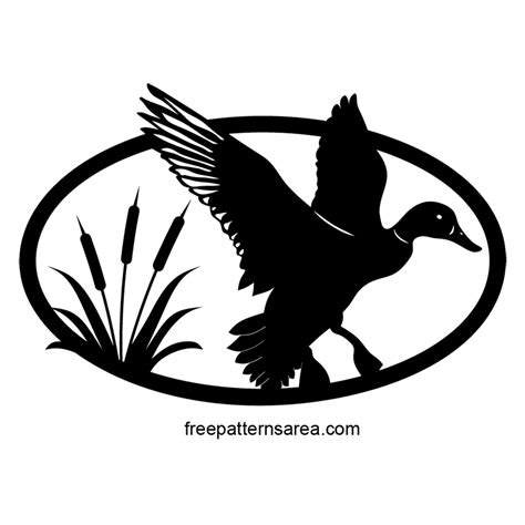 pattern silhouette vector duck silhouette vector free scroll saw pattern