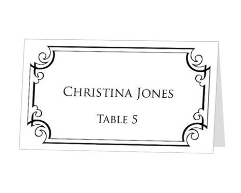 Instant Download Print At Home Place Cards Template By 43lucy 9 95 Menus Name Cards Table Place Cards Template