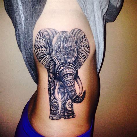 bamboo tattoo or needle elephant tattoo done with bamboo needle tattoo