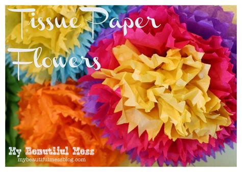 How To Make Tissue Paper Flowers Without Pipe Cleaners - 74 best images on