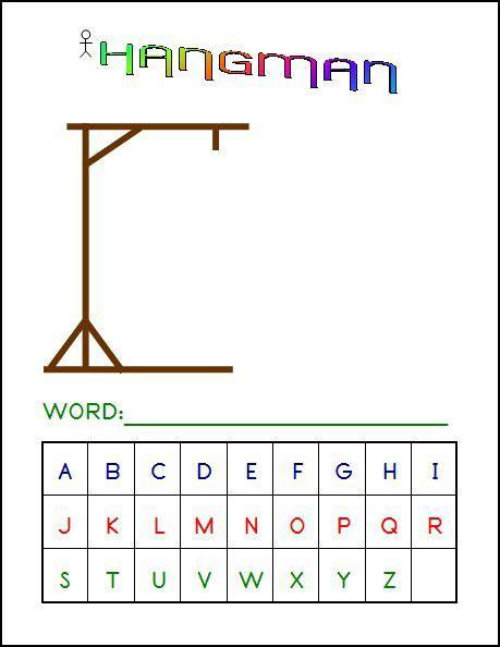 Hangman Printable