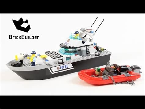lego city fishing boat speed build lego city 60129 police patrol boat lego speed build