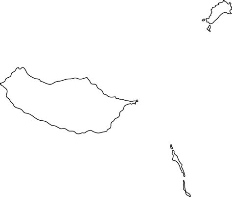 Island Outline by Madeira Islands Outline Map