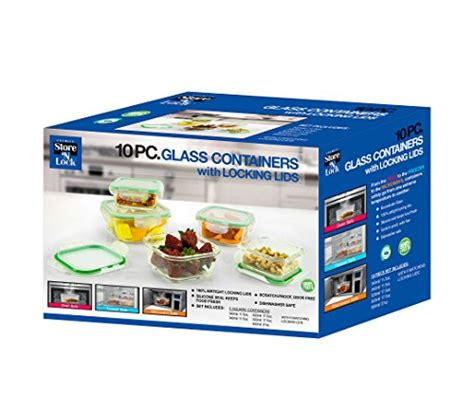 glass food storage containers made in usa from usa 10 square glass food storage container set
