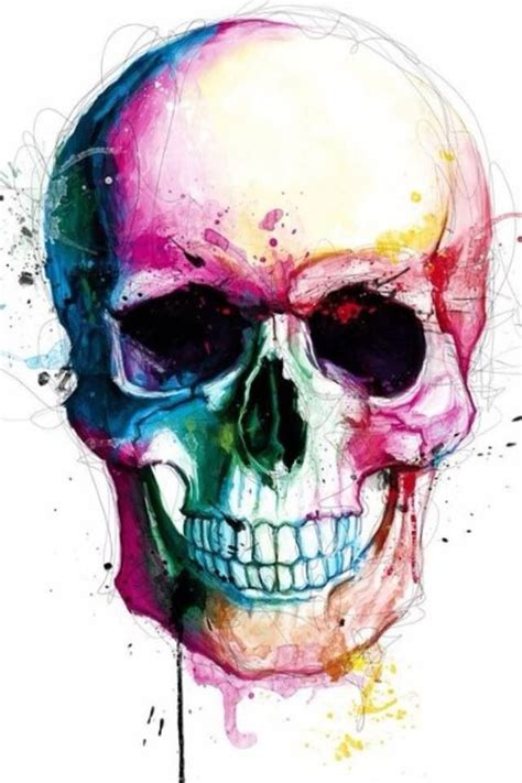 watercolor skull tattoo watercolor skull tattoos piercings and other junk