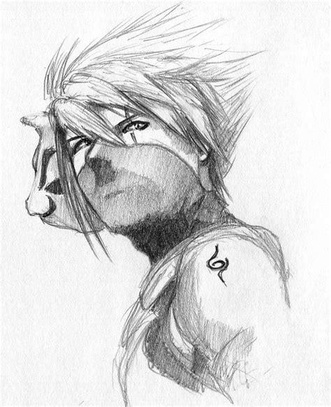 anime boruto hitam putih kakashi anbu sketch by ninjason57 on deviantart
