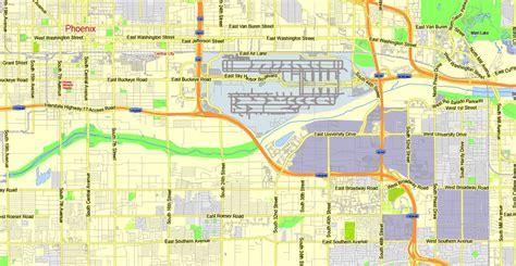 printable phoenix area map phoenix map pdf bnhspine com