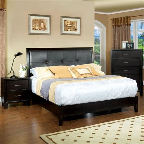 espresso king bedroom set furniture of america muscett 3 piece king bedroom set in