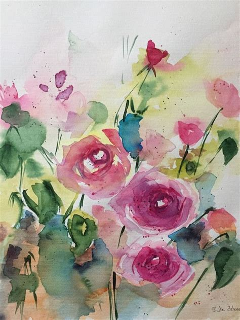 best 25 watercolor flowers ideas on flower watercolor water color calligraphy and