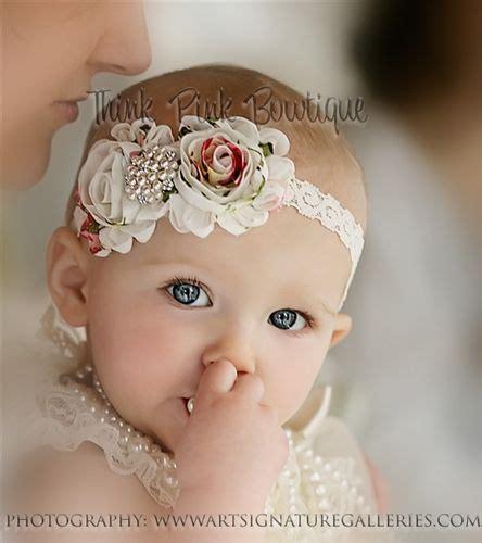 chagne ivory shabby flower headband ivory headband headband baby headband newborn