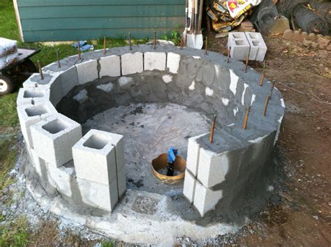 how to make a firepit out of bricks how to make a pit out of bricks images cinder block