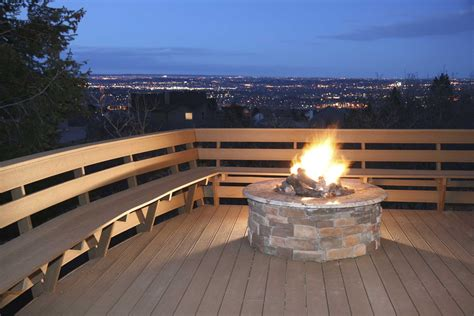 Gas Firepit For Deck Photos Of 12 Outdoor Fireplaces And Pits