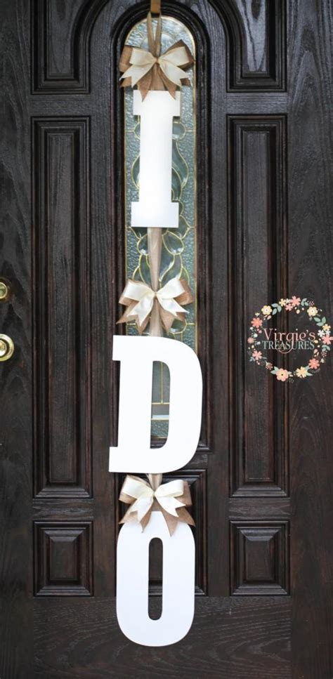 bridal shower door decoration   wooden door hanger